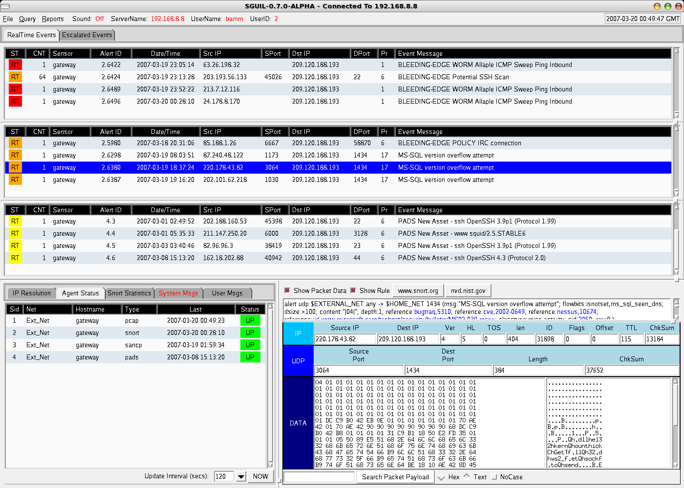 Sguil open source network security monitoring screen shots baditri Image collections